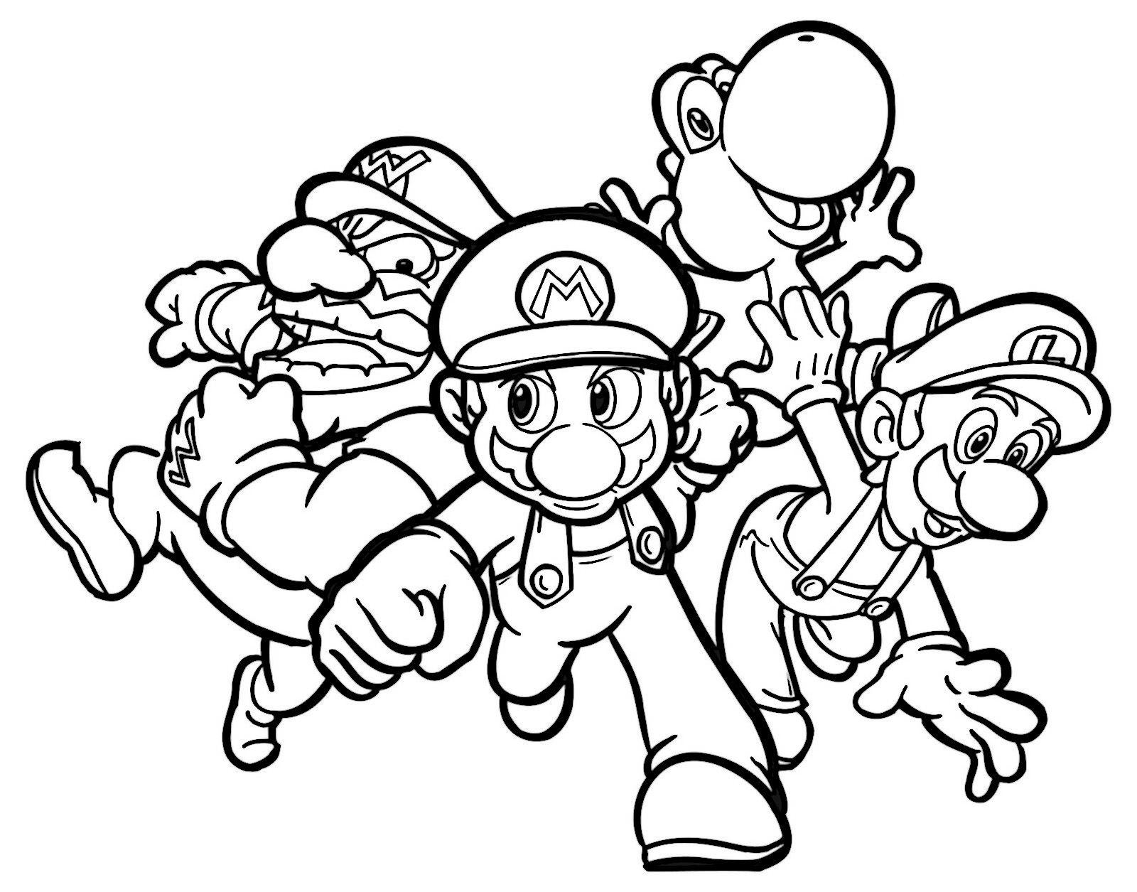 Mario Bros 7 Ausmalbilder für Kinder. Malvorlagen zum ausdrucken