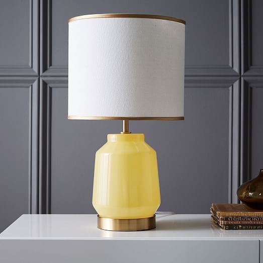Roar Rabbit Faceted Glass Table Lamp Small Yellow Gold