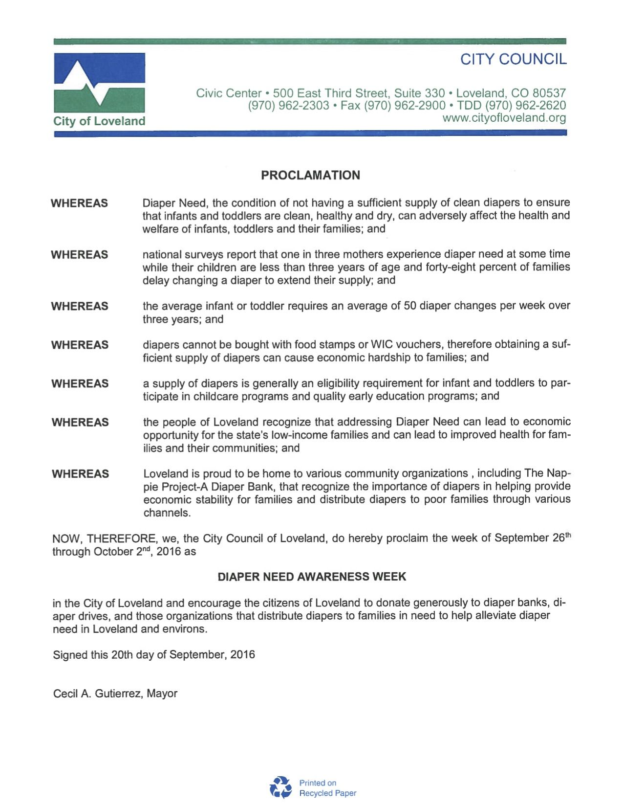 Pin on 2016 diaper need awareness week proclamations