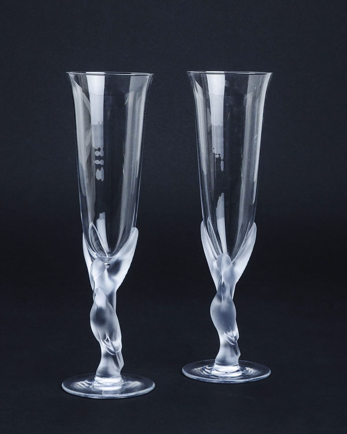 7acb52c0d8e Product Name Faberge LUIB  The Snow Dove  Crystal Champagne Glasses ...