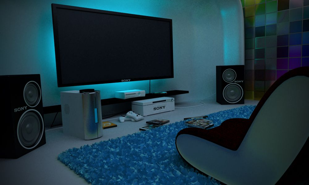 Game room. Just need xBox 360, Playstation 1&2, and