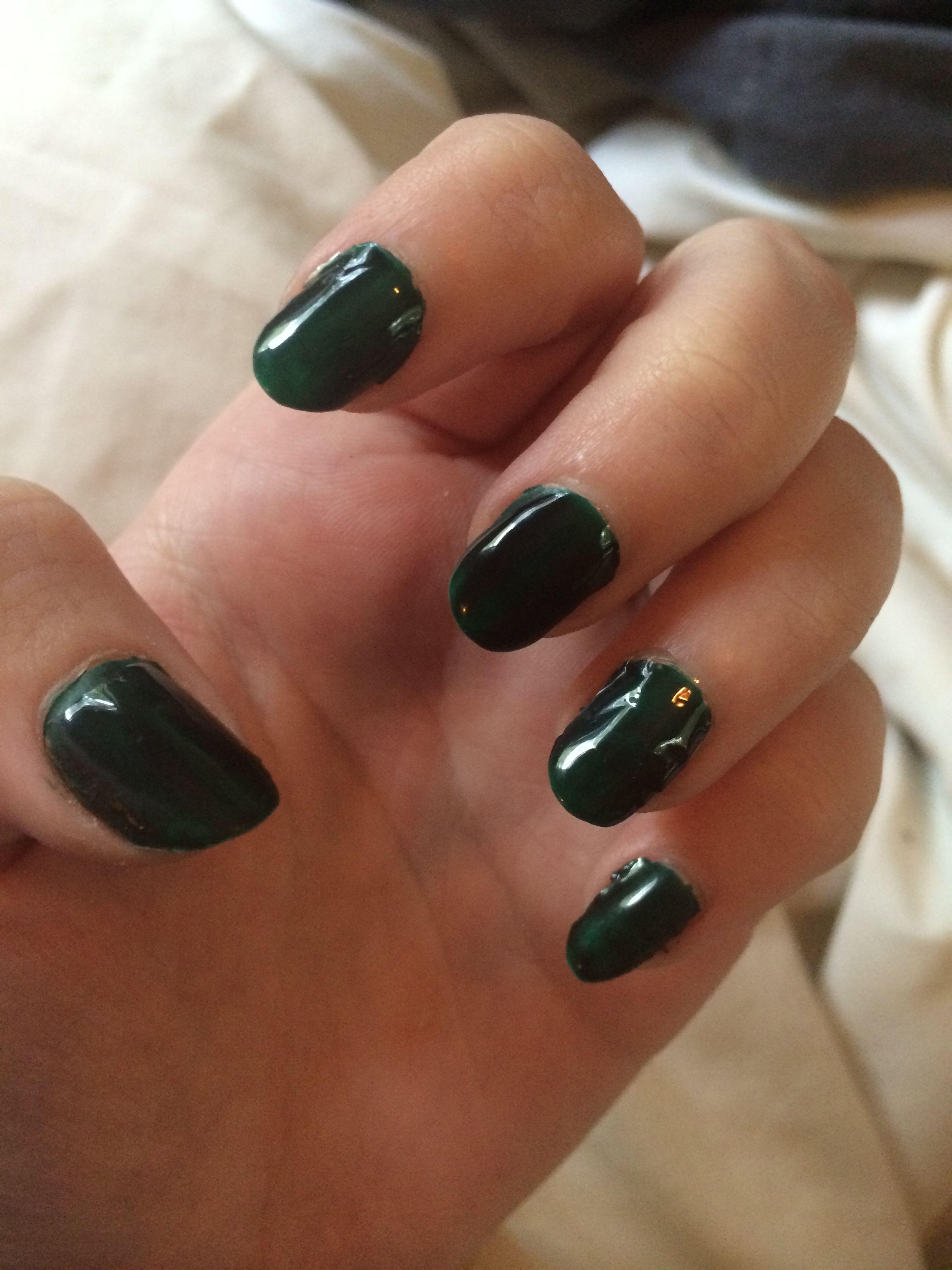Dark Green Emerald Color Gel Nail Polish UV LED GEL   My Nail ...