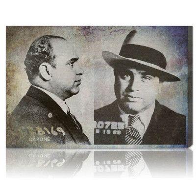 Oliver Gal Al Capone Mugshot Canvas Art Print Allmodern Art Canvas Art Prints Canvas Prints
