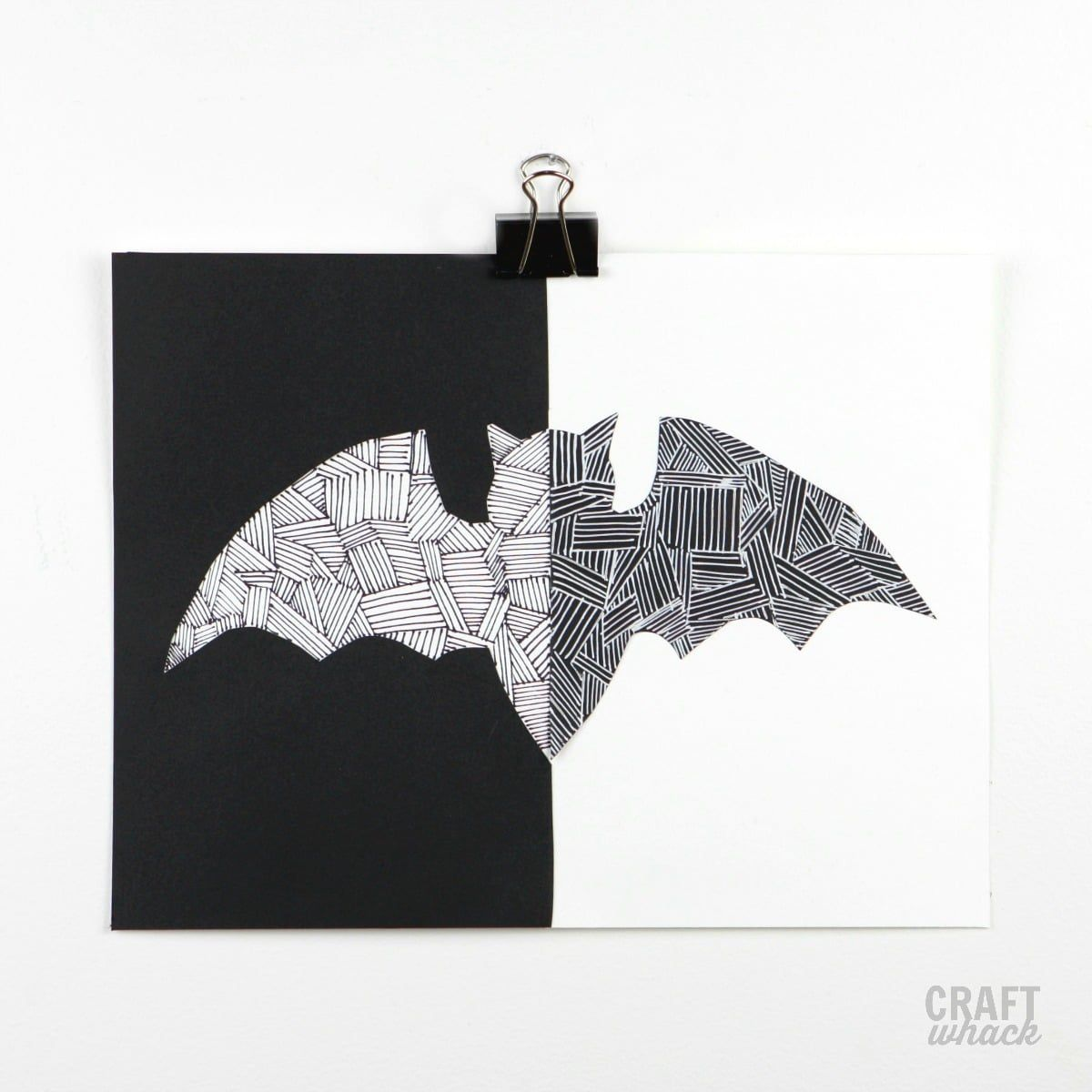 How To Make A Snazzy Paper Halloween Bat
