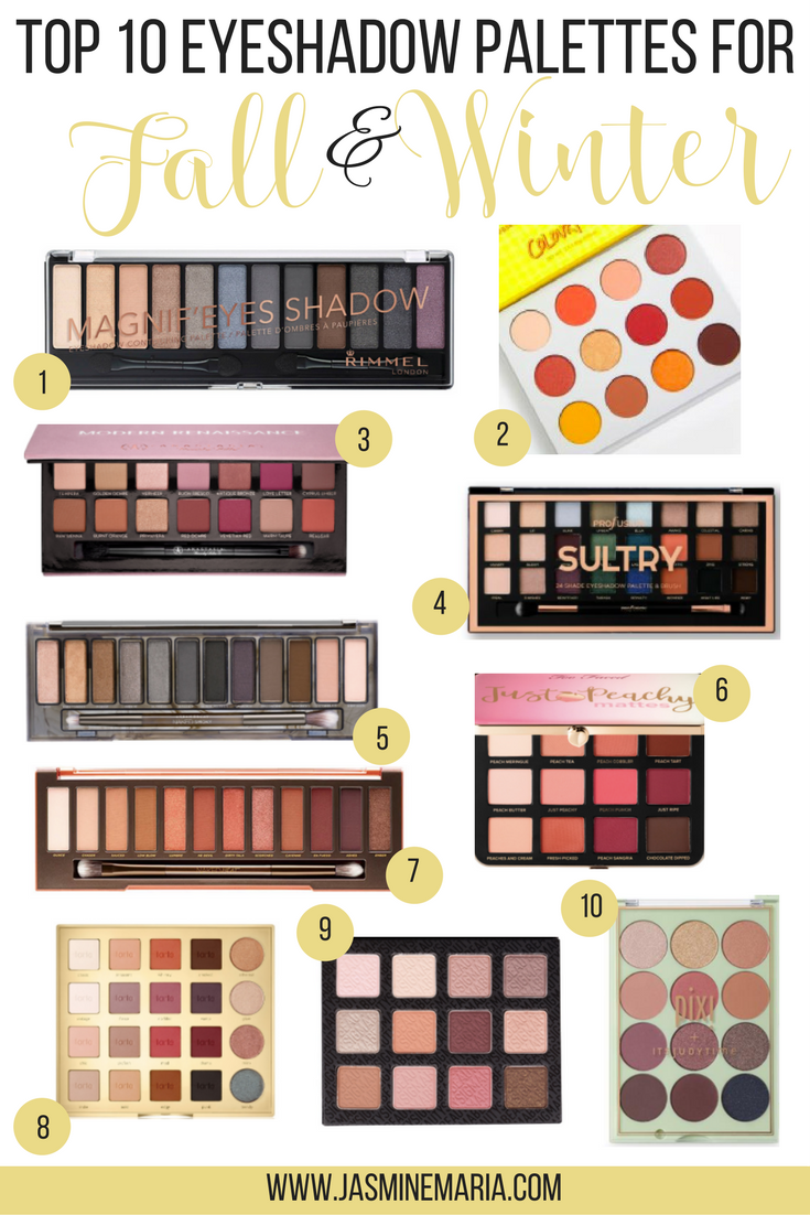 Top 10 Eyeshadow Palettes For Fall And Winter Top 10 Eyeshadow Palettes Eyeshadow Fall Eyeshadow Palette