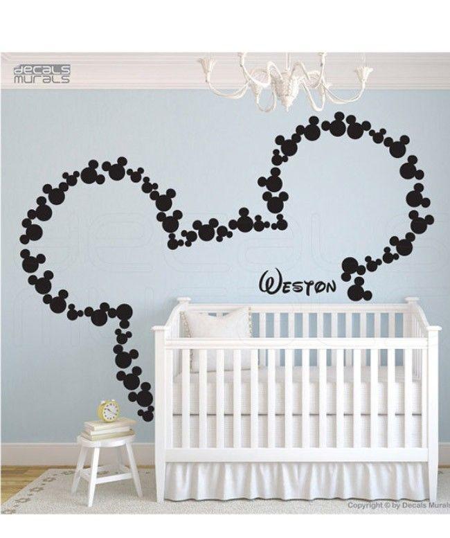 Viniles para decorar el cuarto del beb for him cuarto - Decoracion de habitacion de bebe nina ...