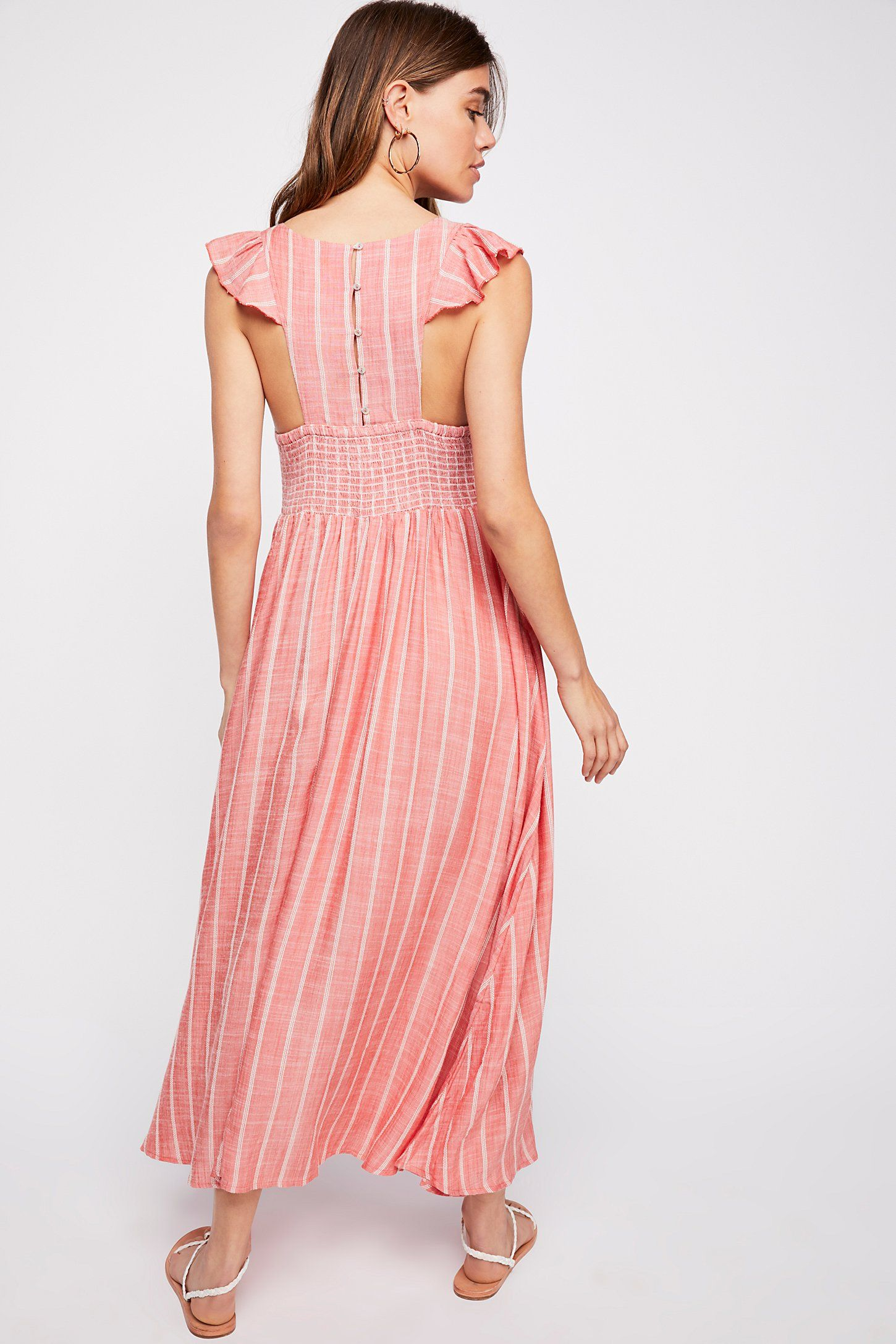 latest discount get new buy online Chambray Butterflies Midi Dress | Dresses, Red midi dress, Free ...