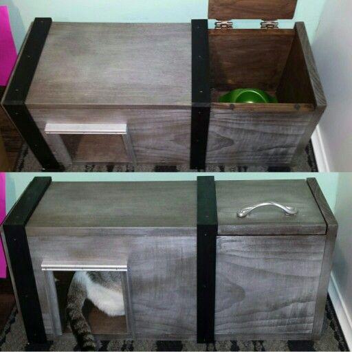 Cat Feeding Station Dog Proof Cat Box Diy Cat Food Station