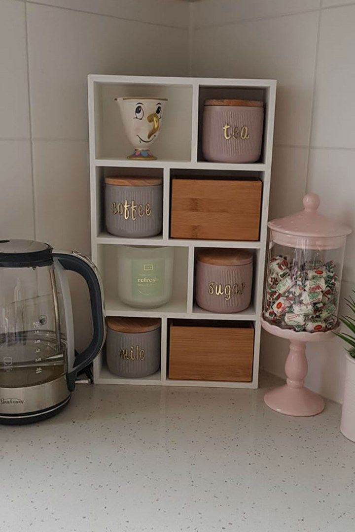 kmart mums are now making 15 tea coffee stations to clean up kitchen clutter new idea food on kitchen ideas kmart id=86174