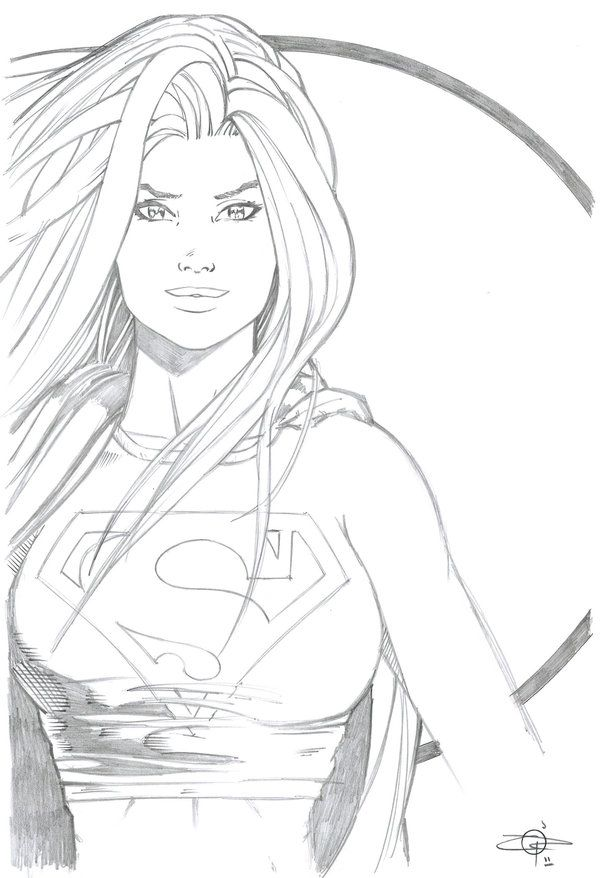 The Women Of Dc Comics Ink In Adam Withers S Dc Comics: Supergirl Con Sketch By Carl-Riley-Art.deviantart.com On