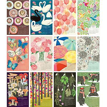 2015 Paper Source Wall Art Calendar- such pretty pages! Which one is ...