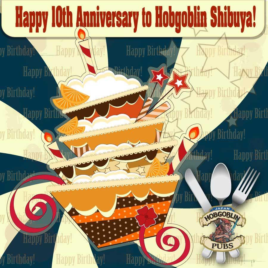 Happy 10th Anniversary to Hobgoblin Shibuya! Let's celebrate with us tonight!  come and enjoy 500yen all drink all night!  visit: http://hobgoblin.jp/Shibuya/tabid/120/language/en-GB/Default.aspx