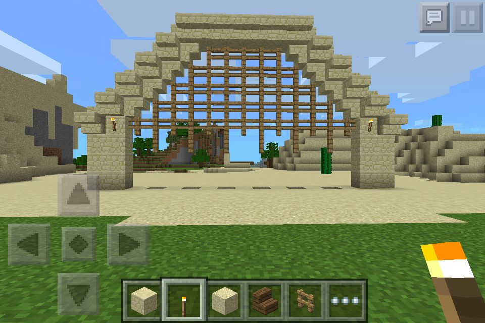This Is A Desert Castle Gate That Is Part Way Down Minecraft