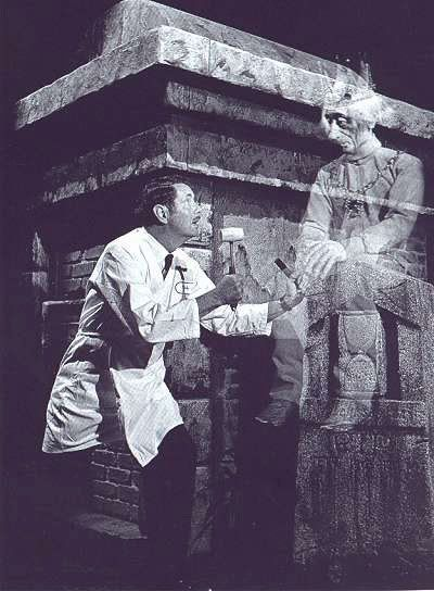 Fun promotional photo from The Haunted Mansion construction