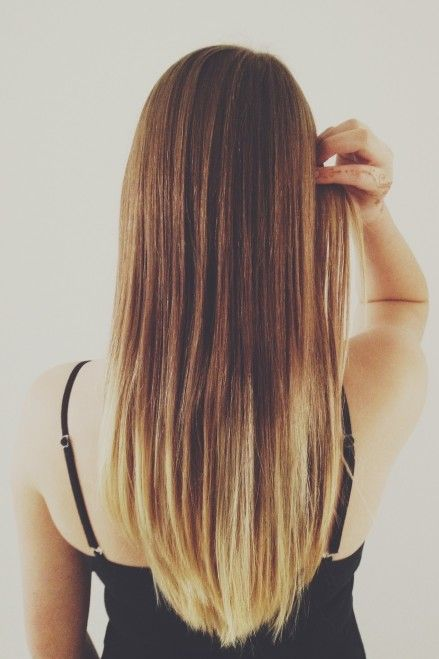 Straight Ombre Hair Tumblr Back View Bne Background Wallpapers