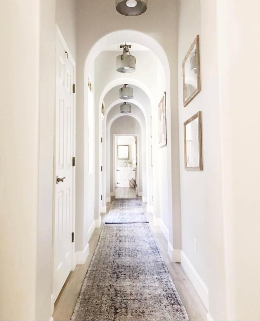 Every Long Hallway Needs A Runner Or Two A Subtle Introduction Like This One Works Well In A Narrow Space Long Hallway Rug Runner Hallway Runner Rug Entryway