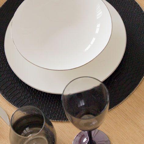 RUNDES TISCHSET MIT SCHUPPENPRINT - Tischset - Tisch | Zara Home Deutschland