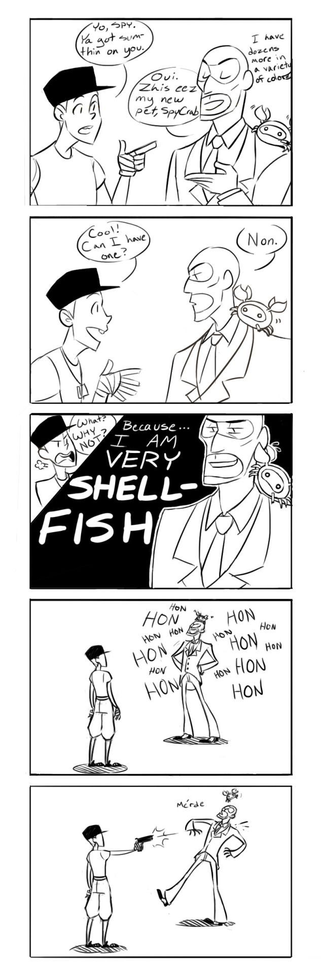 Spy, you're just a WHALE of a good time! That pun went SWIMMINGLY! I'm making jokes just for the HALIBUT!