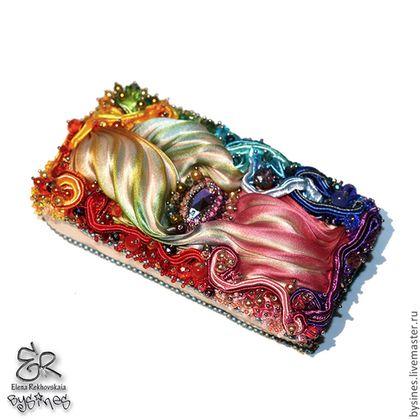 Чехол для телефона (с шибори лентой) - разноцветный радужный,цветной,радуга