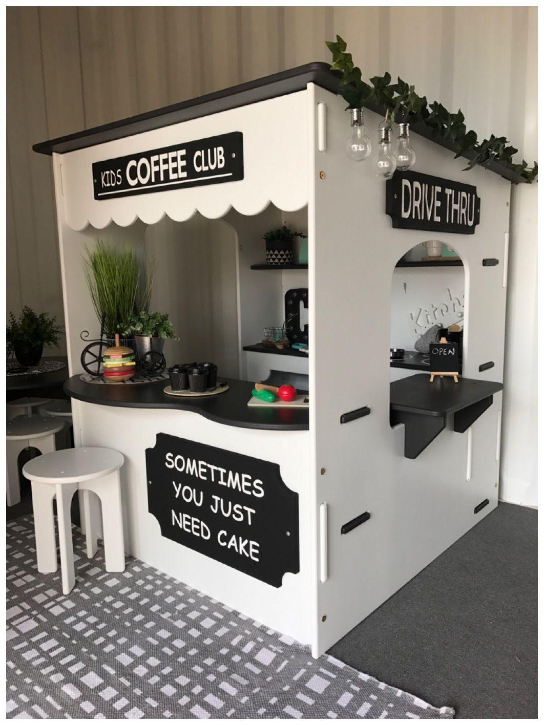 Cafe04 Cafe Cubby Inbuilt Kitchen Amp Drive Thru Window Kids Cafe Kids Kitchen