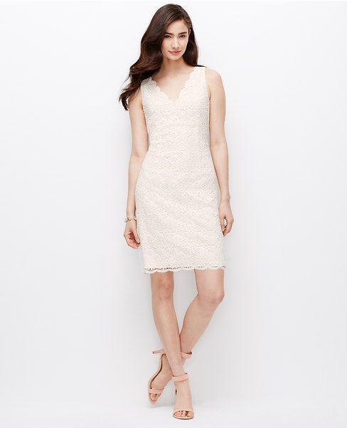 Primary Image of Scalloped Lace Dress