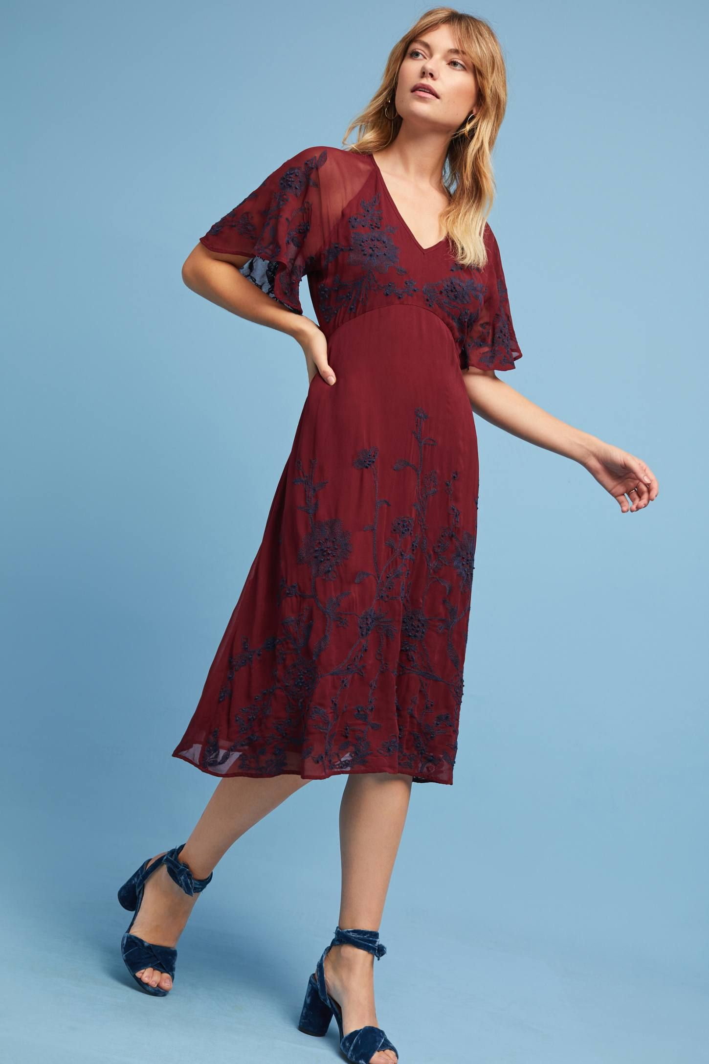 Francoise Embroidered Dress   Anthropologie, Shopping and Fancy