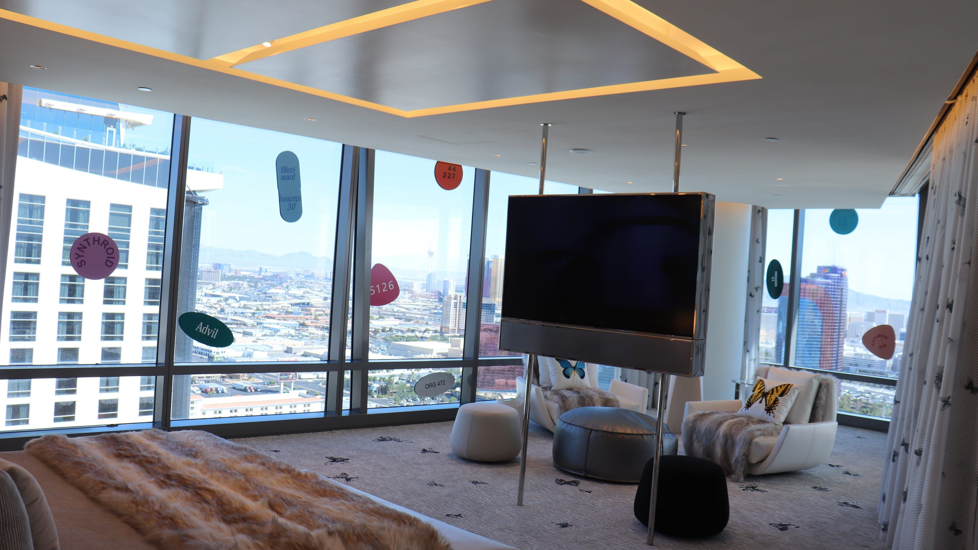 What does a 100,000anight Las Vegas hotel suite look