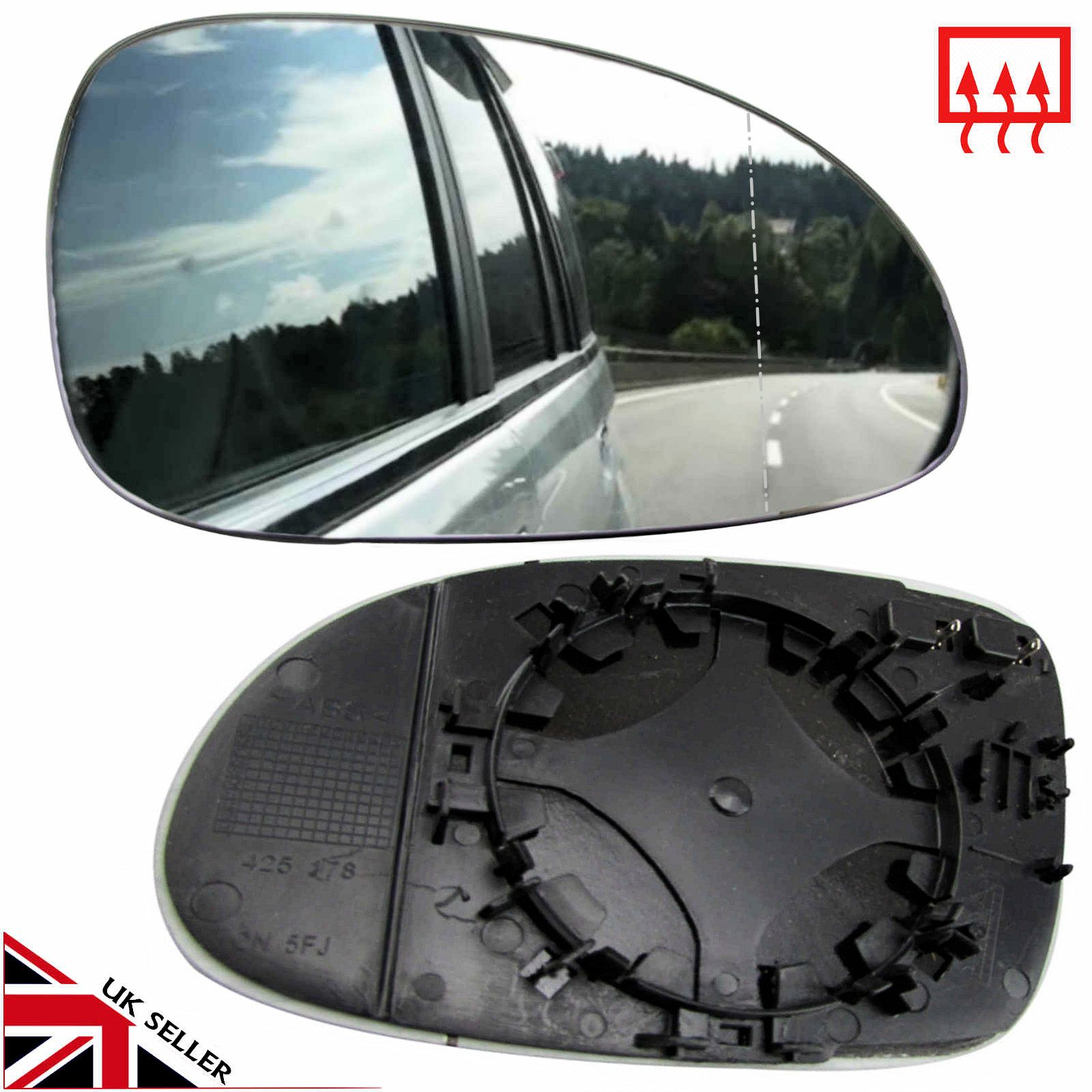 Details About Vw Passat B6 Wing Mirror Glass 2005 10 Heated Right Offside Driver Clip On Vw Passat Glass Fit Glass