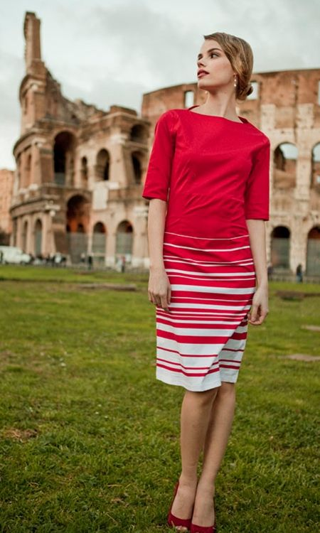 cute Baciami dress $88 from shabby apple-love the stripes!