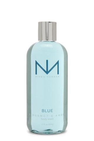 Niven Morgan BLUE Body Wash - BERGAMOT & AMBER  For shower and bath, our rich foaming gel is a luxuriously bracing spa formula that leaves your skin feeling fresh and delicately scented head to toe. Niven Morgan Body Wash is enriched with vitamin E, soothing chamomile, comfrey and arnica extract. Follow with Niven Morgan Body Lotion. Find Niven Morgan bath & body products at advancedsunscreen.com