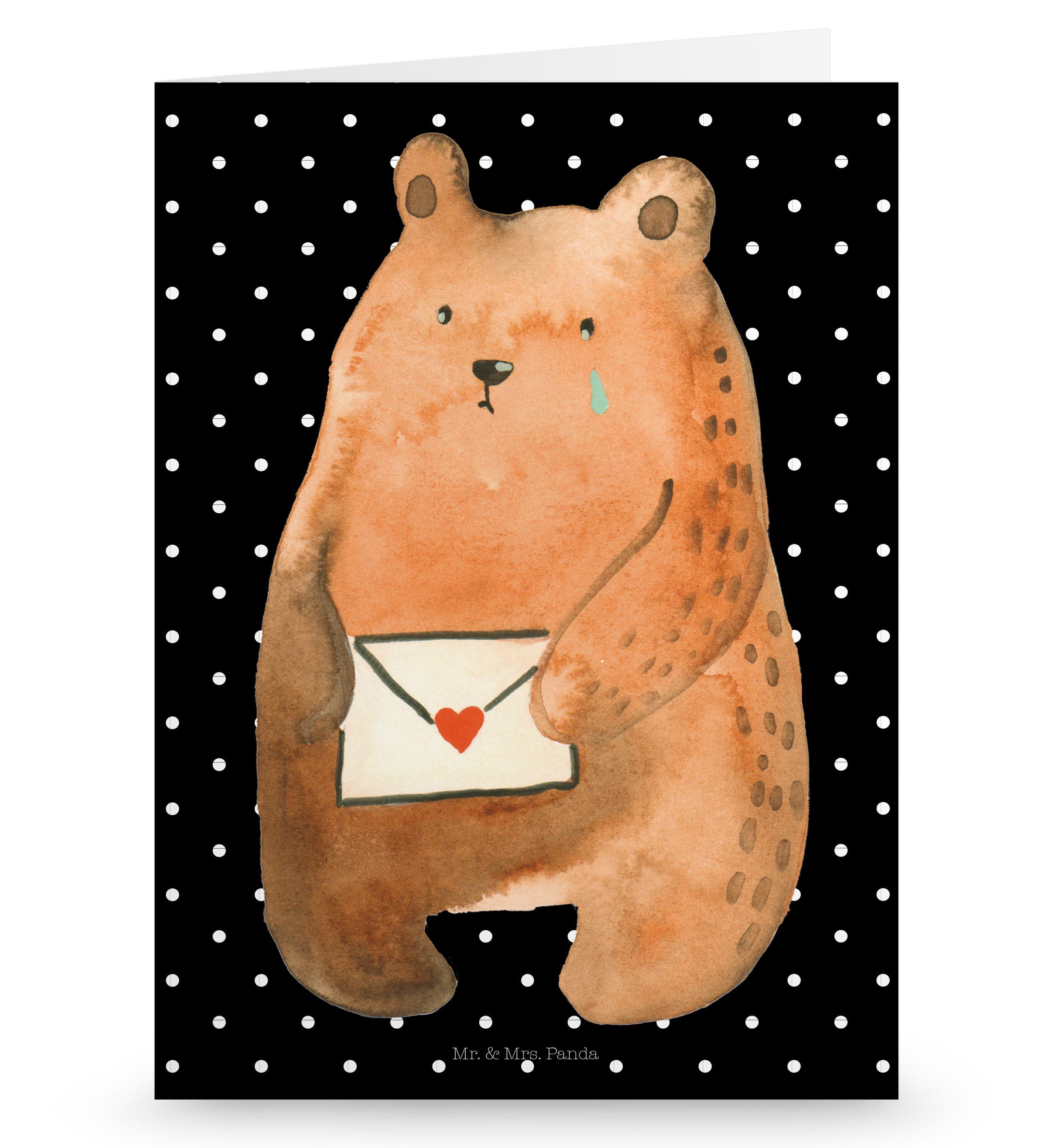 Grußkarte Liebesbrief-Bär aus Karton 300 Gramm weiß - Das