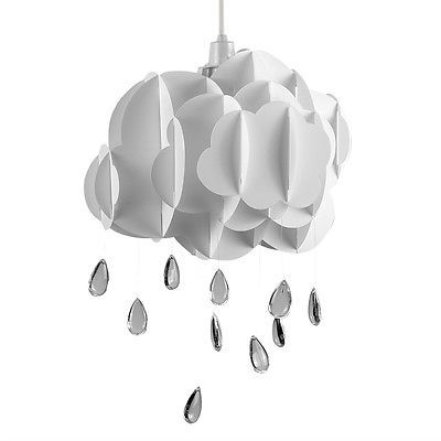 Contemporary childrens white rain cloud ceiling light pendant shade contemporary childrens white rain cloud ceiling light pendant shade lampshade aloadofball Image collections