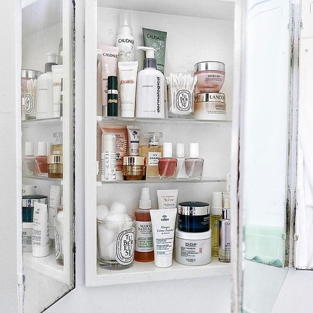 stylist and luxury vanity cupboard bathroom. Face Mapping  What Your Acne is Telling You Confessions Shelves and Clear skin
