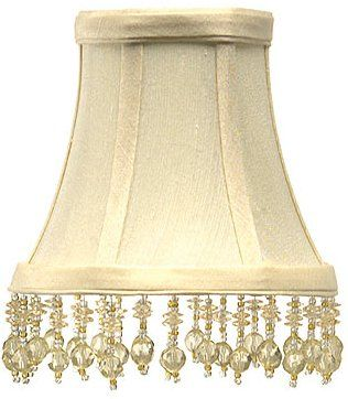 Beaded cream silk chandelier lamp shade 3x5x45 lighting beaded cream silk chandelier lamp shade 3x5x45 aloadofball Choice Image