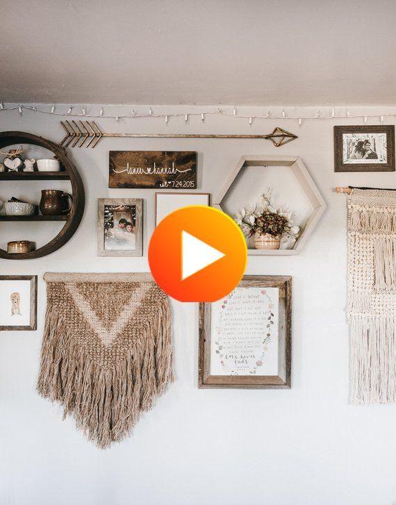Floating Shelves - Farmhouse Decor - Hexagon Shelves - Housewarming Gift - Boho - Boho Decor - #homedecor #decorideas