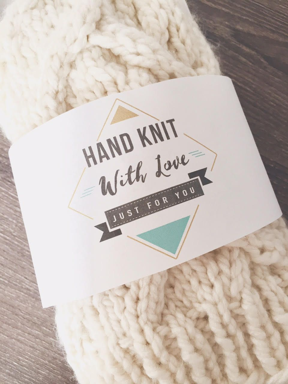 FREE printable hand knit or crochet with love labels for your ...