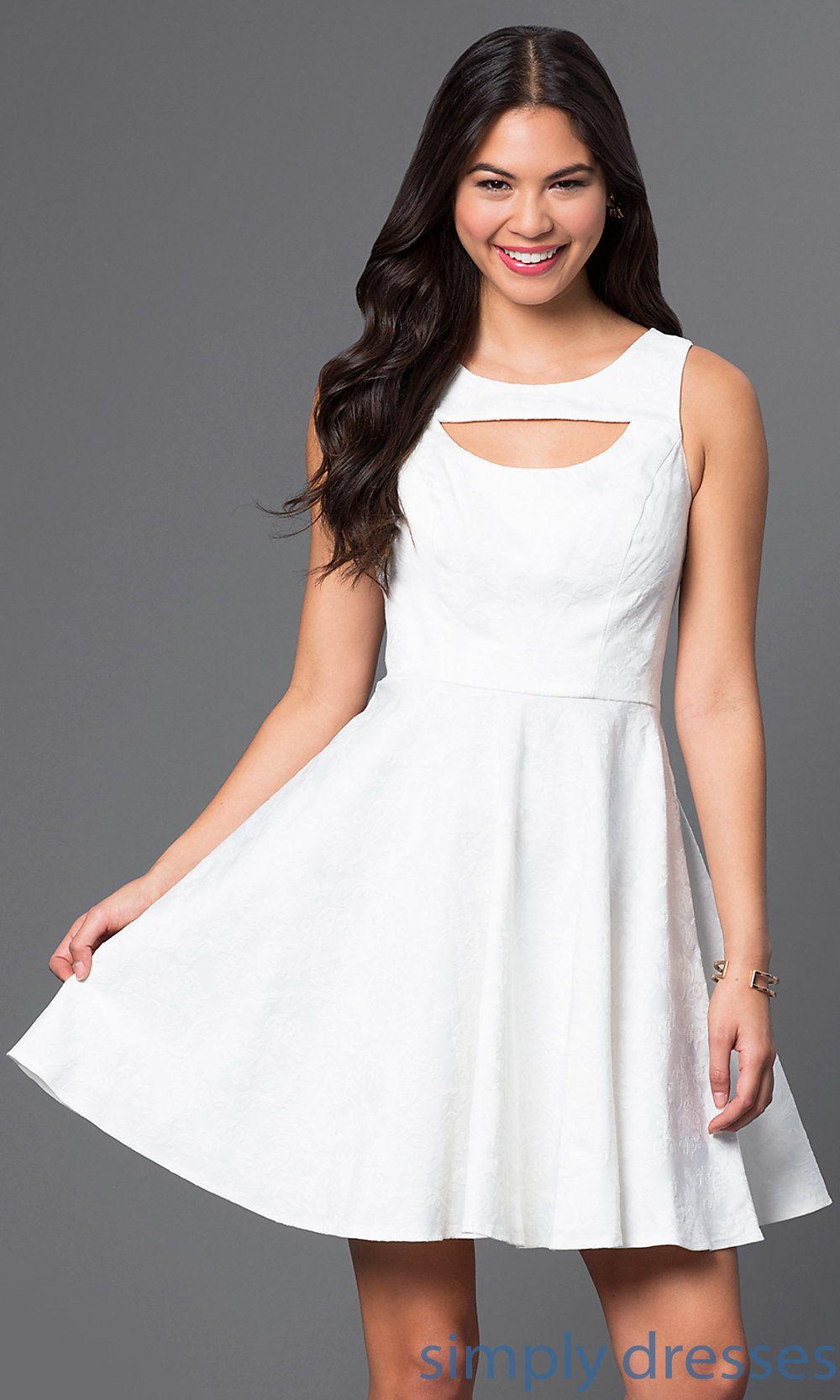 Short High Neck Dress Xoxo Short White Dresses Simply Dresses Short White Cocktail Dresses White Short Dress Dresses [ 1666 x 1000 Pixel ]