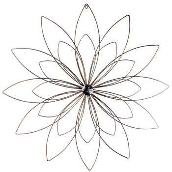 copper metal flower wall decor with bling center purchased 2 different sizes - Metal Flower Wall Decor