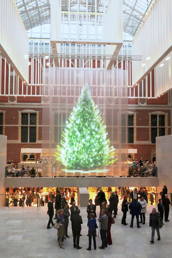 the tree of light by studio droog is purely a holographic projection christmas trendhuntercom