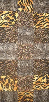 Handmade Assorted Animal Print Quilted Table Runner