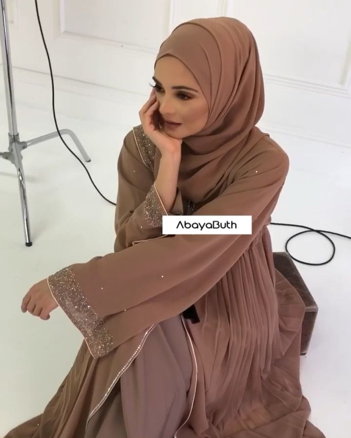 Photo of BEST SELLER – Dusty Taupe Double Open Abaya