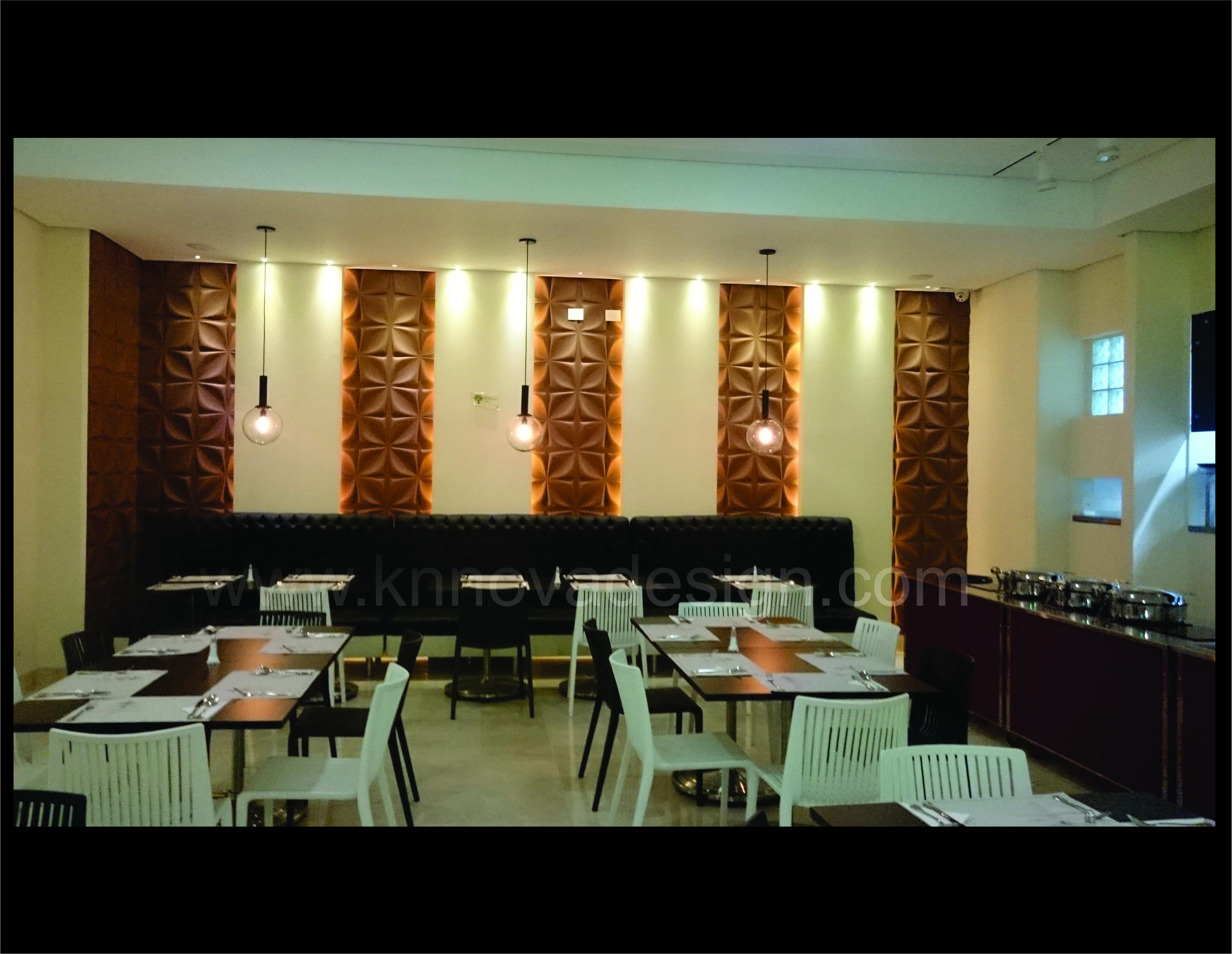 Dise O Interior Para Restaurantes Panel 3d Paneles 3d