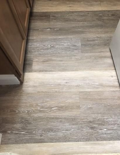 Trafficmaster Allure 6 In X 36 In Brushed Oak Taupe Luxury Vinyl