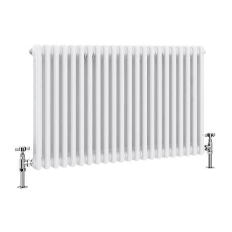 Keswick Cast Iron Style Traditional 2 Column White Radiator (600 x 988mm)