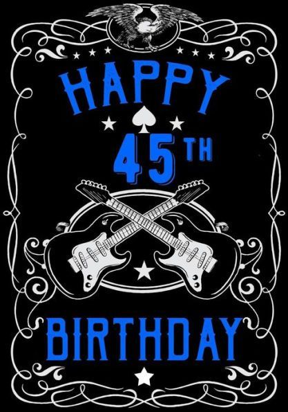 Happy 45th Birthday Gifts For Men Journal Notebook 45 Year Old Journalin