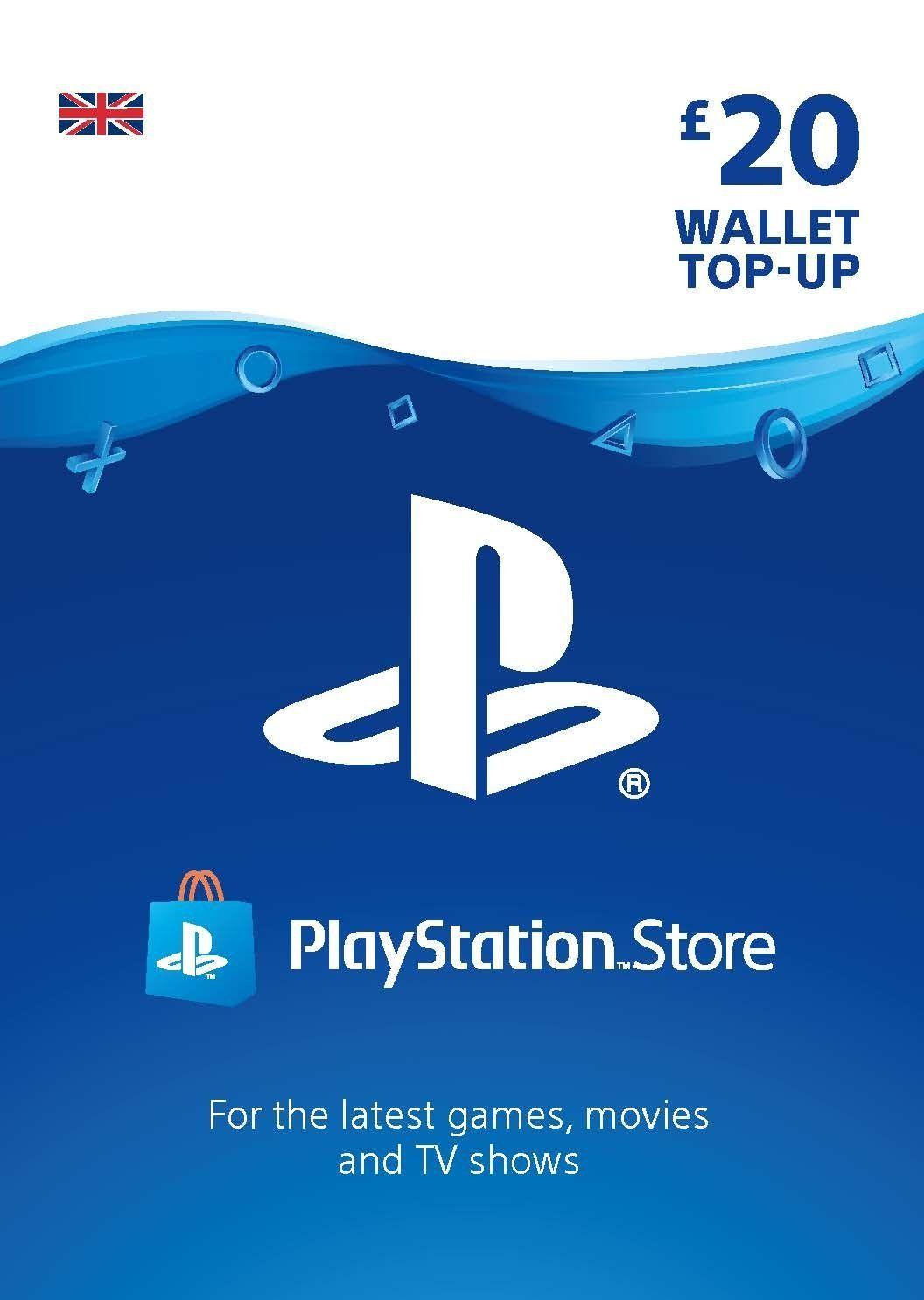 PlayStation PSN Card 20 GBP Wallet Top Up | PSN Download
