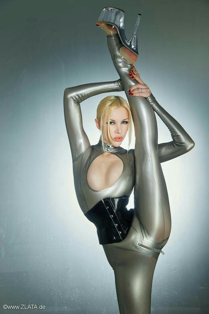 Zlata Contortionist Flexible Girls Yoga For Flexibility Latex Lady Catsuit Spandex