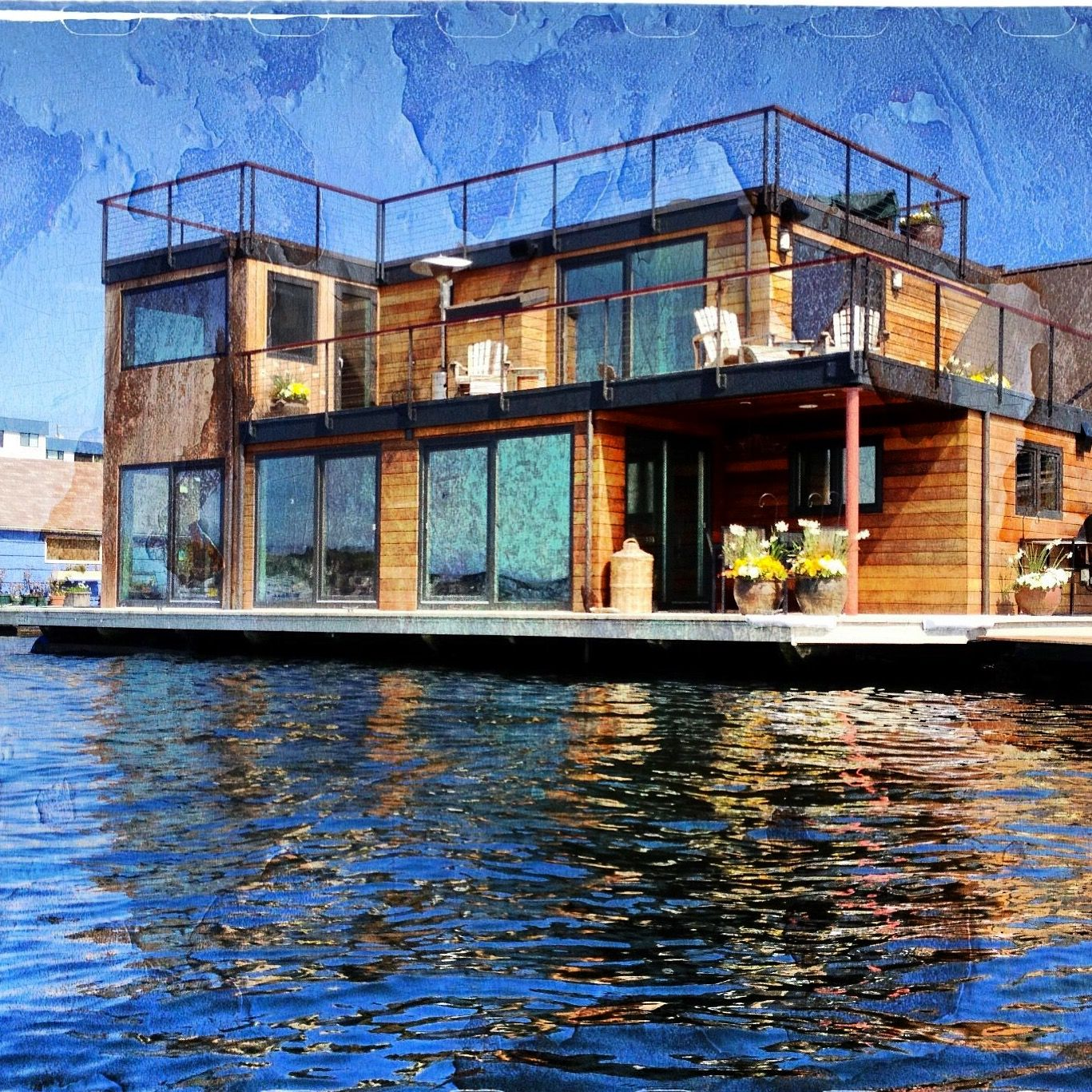 Seattle Floating Homes With Images Floating House Seattle Homes Waterfront Homes