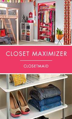 With the Closet Maximizer by ClosetMaid®, you can upgrade your current closet in under 30 minutes without using any tools! The Closet Maximizer instantly creates space in any closet, and is affordable and portable. #Renters #RenterStorage