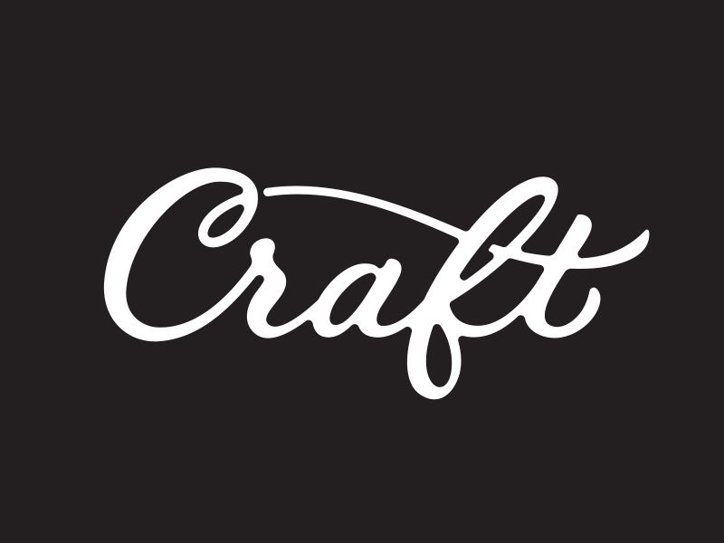 Craft typography logos and calligraphy